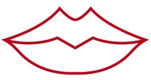 富士山型の唇